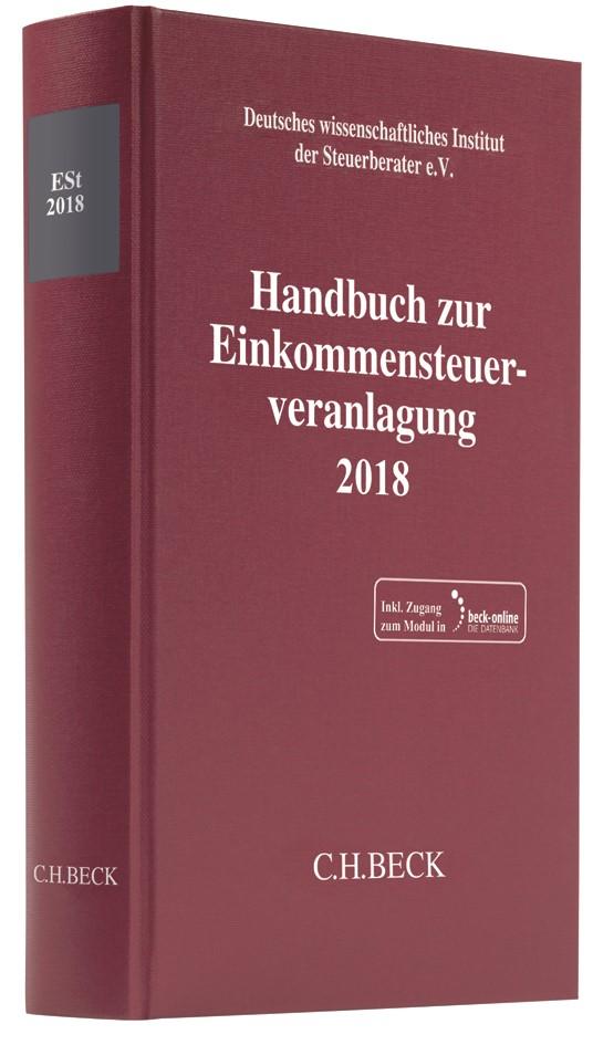 Abbildung von Handbuch zur Einkommensteuerveranlagung 2018: ESt 2018   2019