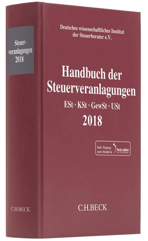 Abbildung von Handbuch der Steuerveranlagungen 2018 | 2019