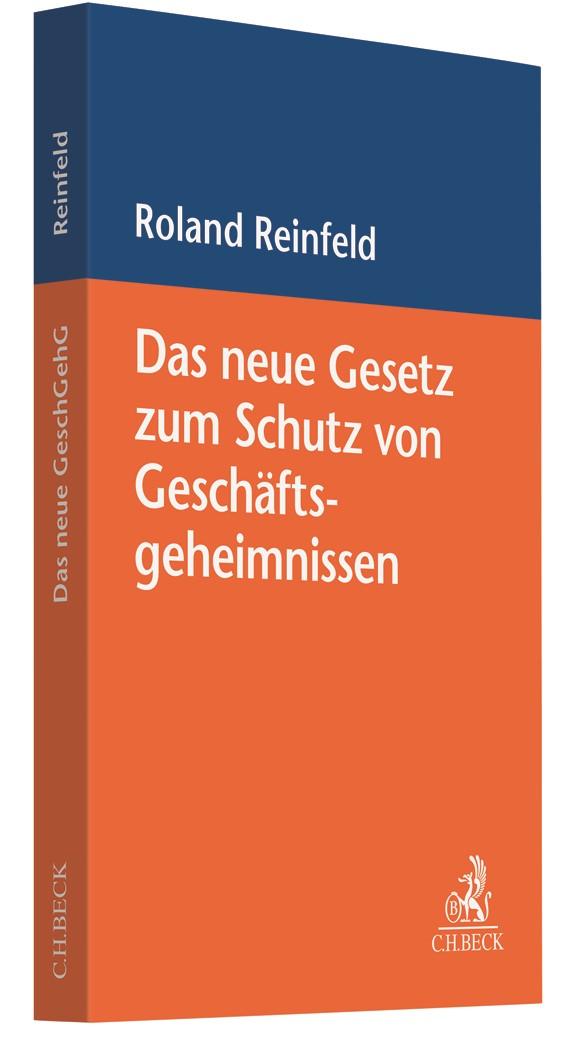 Das neue Gesetz zum Schutz von Geschäftsgeheimnissen | Reinfeld, 2019 | Buch (Cover)