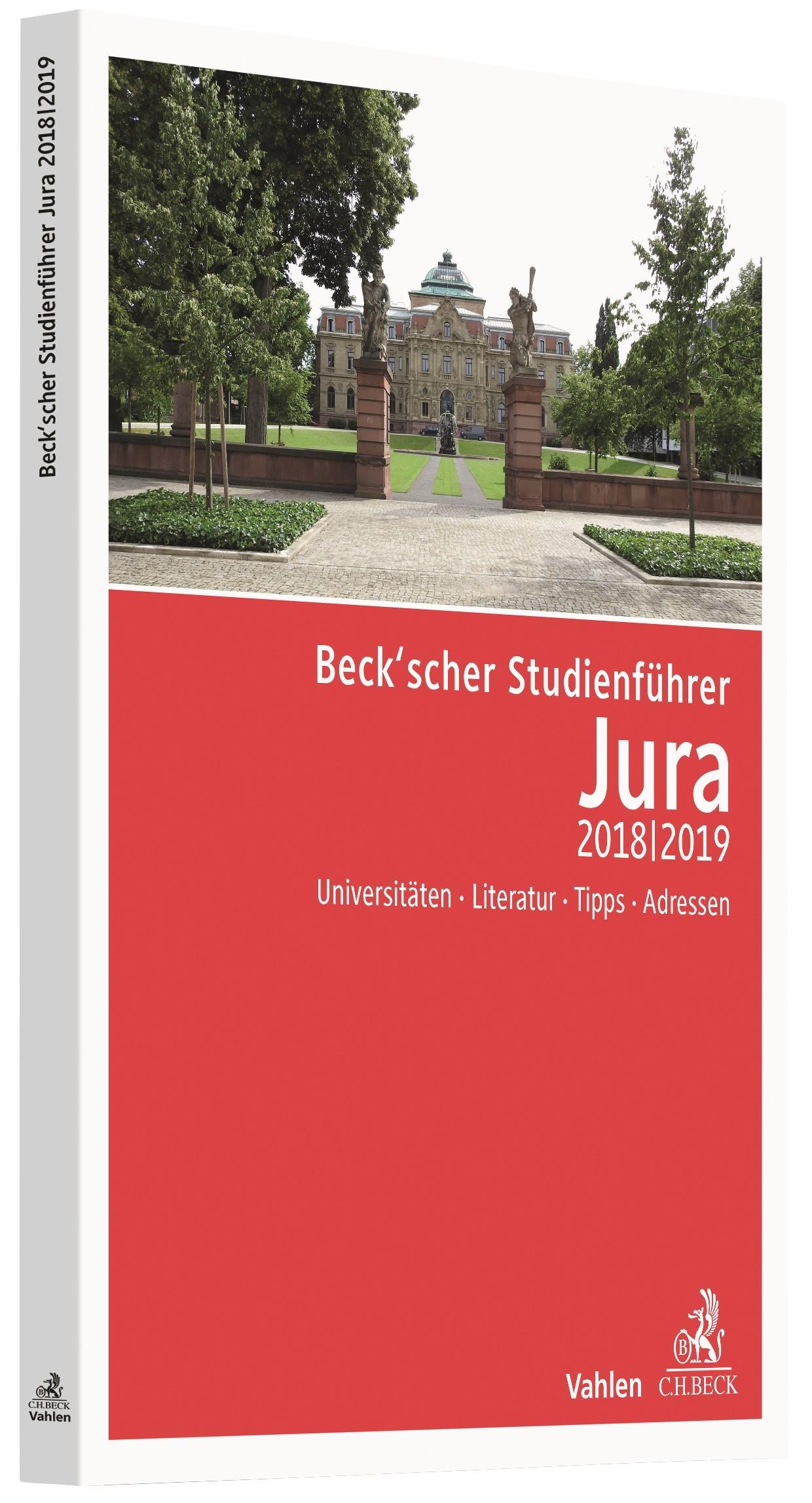 Beck'scher Studienführer Jura Wintersemester 2018/2019, 2018 | Buch (Cover)