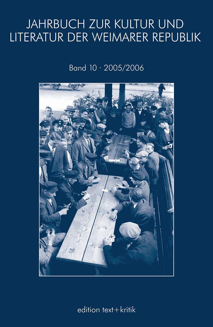 JAHRBUCH ZUR KULTUR UND LITERATUR DER WEIMARER REPUBLIK, 2006 | Buch (Cover)