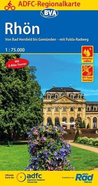 ADFC-Regionalkarte Rhön 1 : 75 000   7. Auflage, 2018 (Cover)