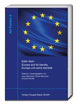 Abbildung von Machnacz / Marcinow | Edith Stein, Europe and Its Identity - Europa und seine Identität | 1. Auflage | 2018 | beck-shop.de