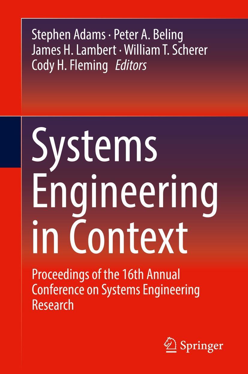 Abbildung von Adams / Beling / Lambert / Scherer | Systems Engineering in Context | 1st ed. 2019 | 2019