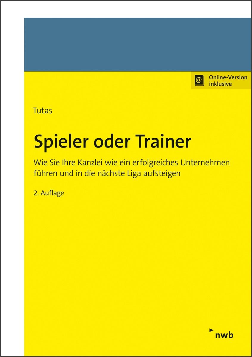 Spieler oder Trainer | Tutas | 2. Auflage, 2019 | Buch (Cover)