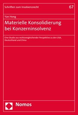 Abbildung von Hong | Materielle Konsolidierung bei Konzerninsolvenz | 2019 | Eine Studie aus rechtsvergleic... | 67