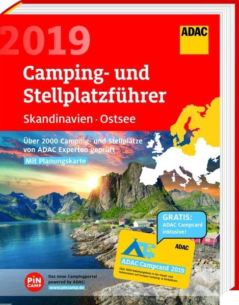 ADAC Camping- und Stellplatzführer Skandinavien, Ostsee 2019, 2019 | Buch (Cover)