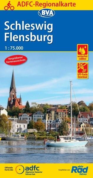 ADFC-Regionalkarte Schleswig Flensburg 1:75.000   6. Auflage, 2018 (Cover)
