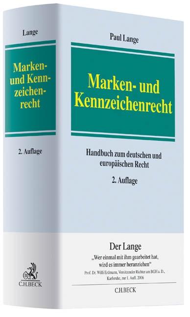 Marken- und Kennzeichenrecht | Lange | 2. Auflage, 2012 | Buch (Cover)