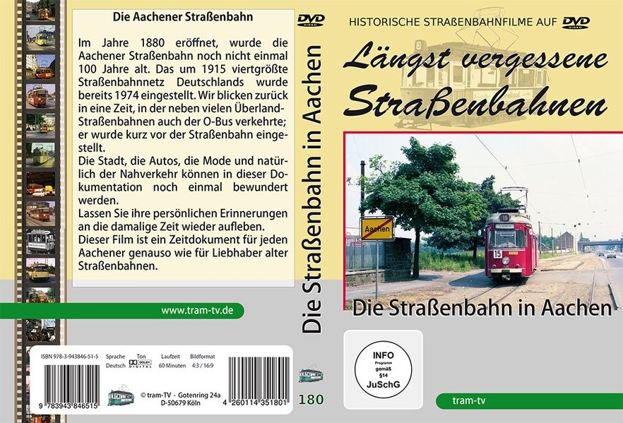 Die Straßenbahn in Aachen, 2018 (Cover)
