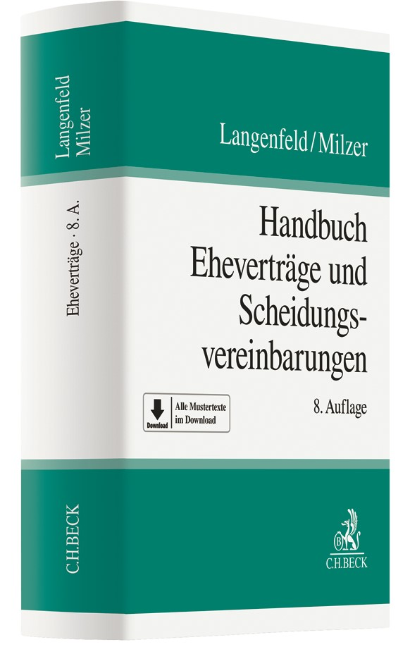 Handbuch Eheverträge und Scheidungsvereinbarungen | Langenfeld / Milzer | 8., grundlegend neubearbeitete Auflage, 2018 | Buch (Cover)