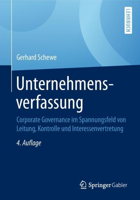 Unternehmensverfassung | Schewe | 4. Aufl. 2018, 2018 | Buch (Cover)