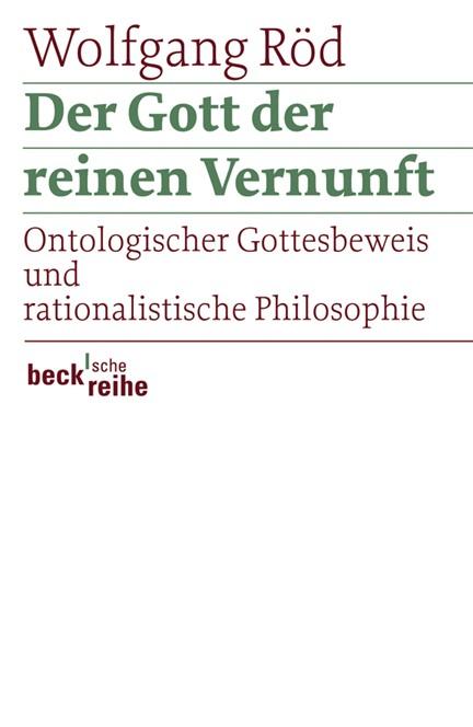 Cover: Wolfgang Röd, Der Gott der reinen Vernunft