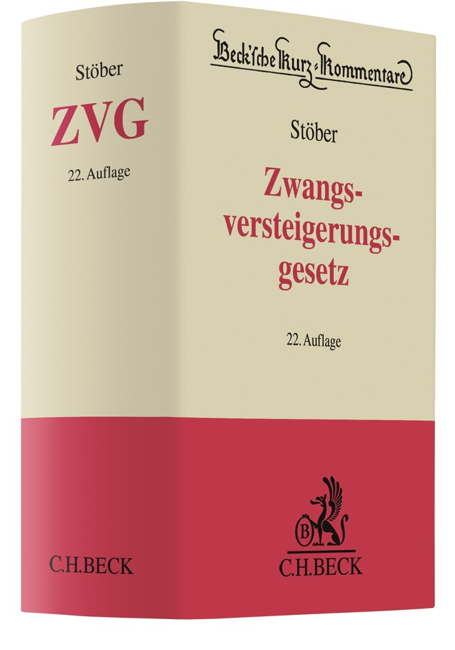 Zwangsversteigerungsgesetz: ZVG | Stöber | 22., neubearbeitete Auflage, 2018 | Buch (Cover)
