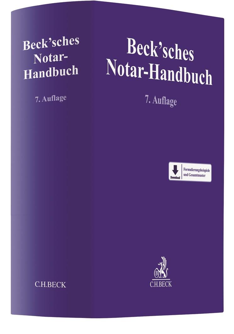Beck'sches Notar-Handbuch | 7. Auflage, 2019 | Buch (Cover)