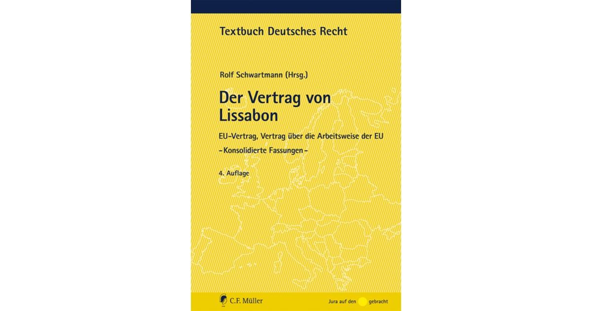 Der Vertrag Von Lissabon Schwartmann 5 überarbeitete Auflage