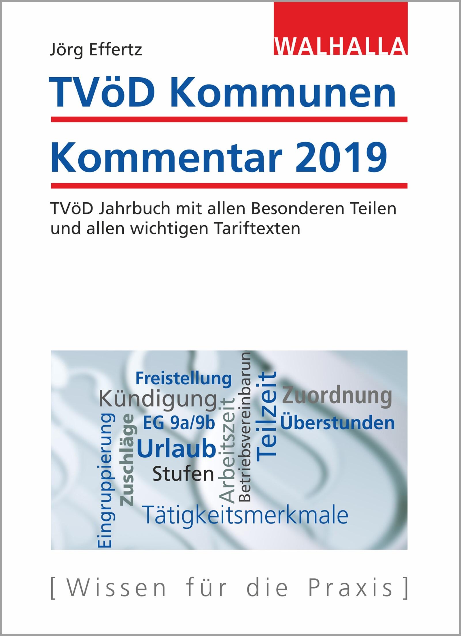 TVöD Kommunen Kommentar 2019 | Effertz, 2018 | Buch (Cover)
