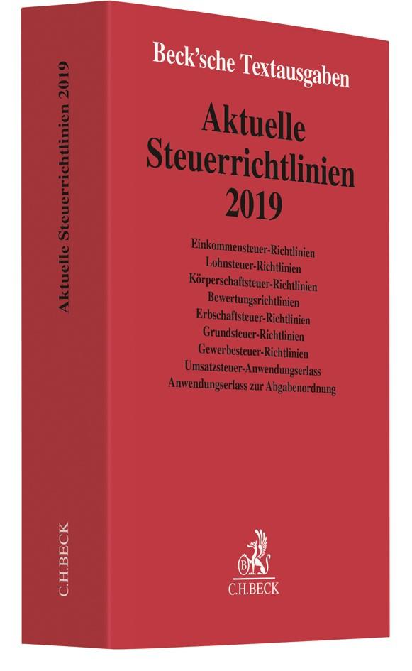 Abbildung von Aktuelle Steuerrichtlinien 2019 | 2019