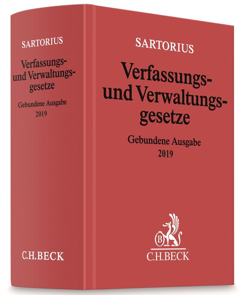 Verfassungs- und Verwaltungsgesetze Gebundene Ausgabe 2019 | Sartorius, 2019 | Buch (Cover)