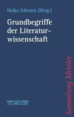 Abbildung von Gfrereis | Grundbegriffe der Literaturwissenschaft | 1999