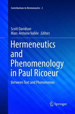Abbildung von Davidson / Vallée | Hermeneutics and Phenomenology in Paul Ricoeur | 1. Auflage | 2018 | 2 | beck-shop.de