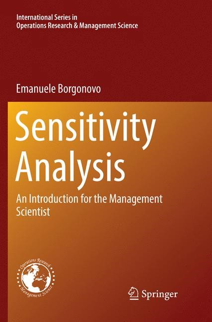 Sensitivity Analysis | Borgonovo | Softcover reprint of the original 1st ed. 2017, 2018 | Buch (Cover)