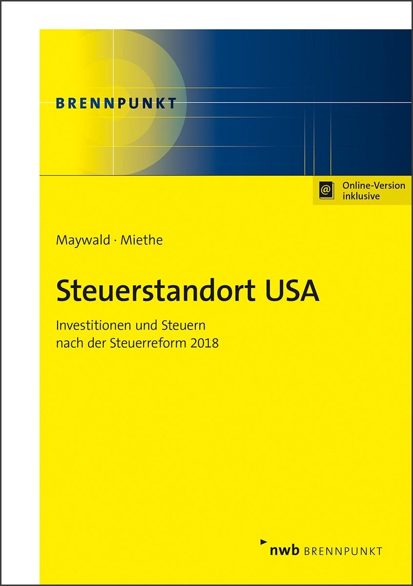 Steuerstandort USA | Maywald / Miethe, 2018 | Buch (Cover)