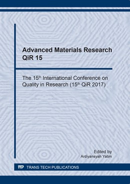 Abbildung von Yatim | Advanced Materials Research QiR 15 | 2018 | The 15th International Confere... | Volume 929
