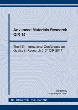 Abbildung von Yatim | Advanced Materials Research QiR 15 | 2018 | The 15th International Confere... | Volume 929