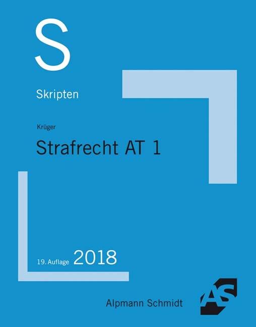 Skript Strafrecht AT 1 | Krüger | 19. Auflage, 2018 | Buch (Cover)