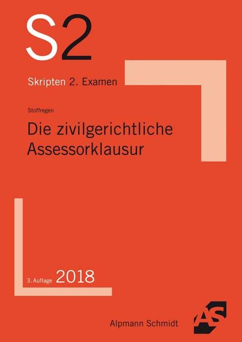 Die zivilgerichtliche Assessorklausur | Stoffregen | 3. Auflage, 2018 | Buch (Cover)