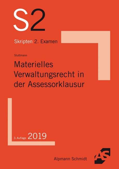 Materielles Verwaltungsrecht in der Assessorklausur | Stuttmann | 3., überarbeitete Auflage, 2018 | Buch (Cover)