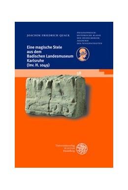 Abbildung von Quack | Eine magische Stele aus dem Badischen Landesmuseum Karlsruhe (Inv. H 1049) | 1. Auflage | 2018 | beck-shop.de