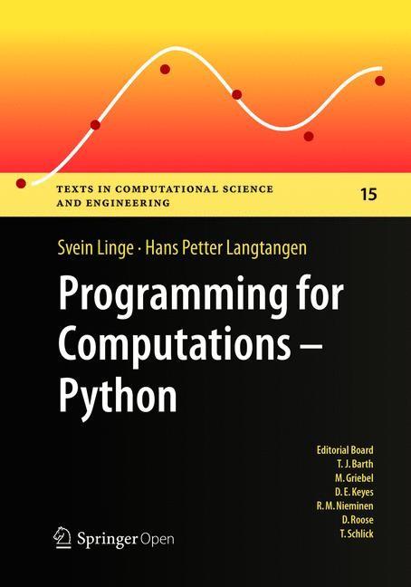 Abbildung von Linge / Langtangen | Programming for Computations - Python | Softcover reprint of the original 1st ed. 2016 | 2018