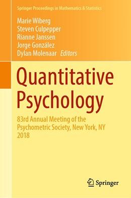 Abbildung von Wiberg / Culpepper / Janssen / González / Molenaar   Quantitative Psychology   1st ed. 2019   2019   83rd Annual Meeting of the Psy...   265