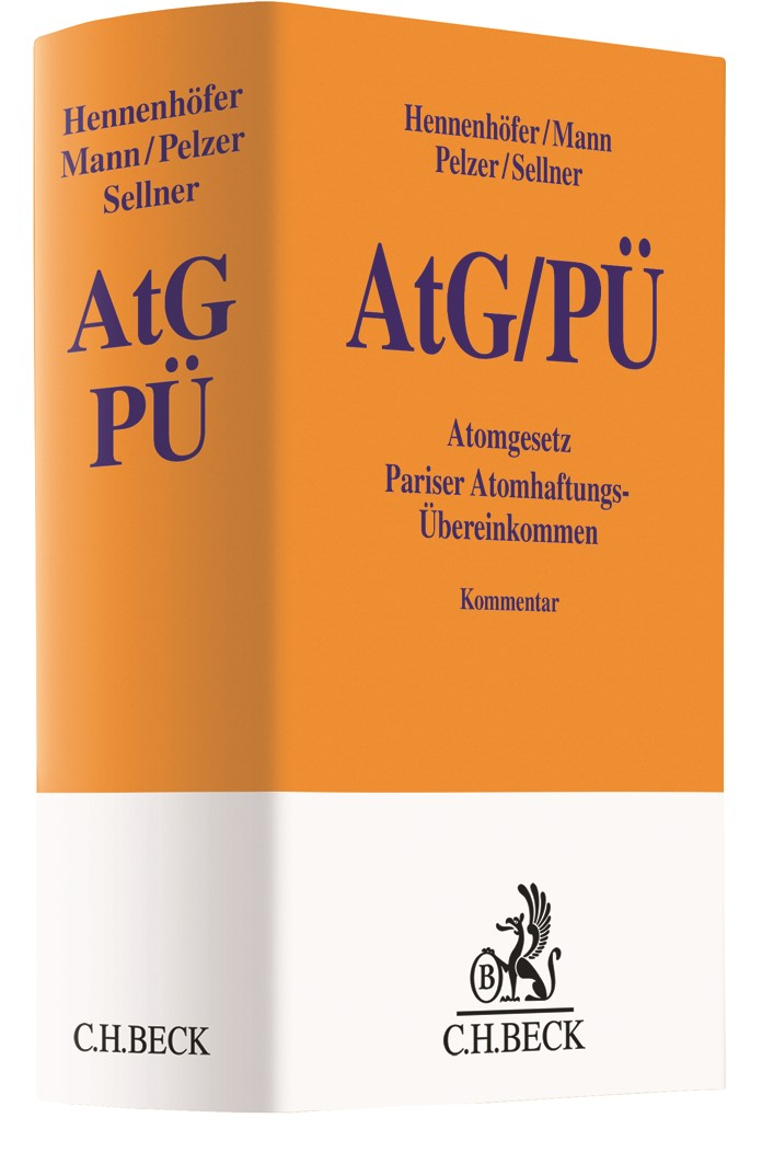 Atomgesetz: AtG | Hennenhöfer / Mann / Pelzer / Sellner, 2019 | Buch (Cover)