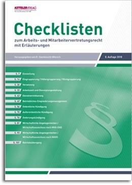Abbildung von Oxenknecht-Witzsch / Bartels | Checklisten 2018 | 8. Auflage | 2018 | beck-shop.de