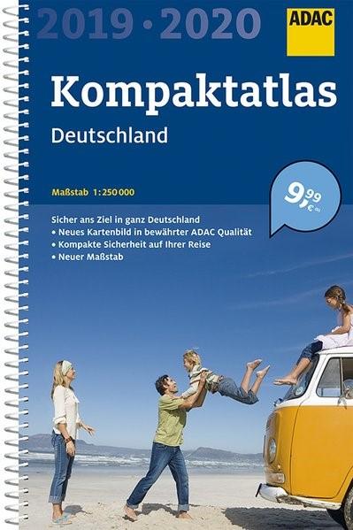 ADAC Kompaktatlas Deutschland 2019/2020 1:250 000 | 20. Auflage, 2019 | Buch (Cover)