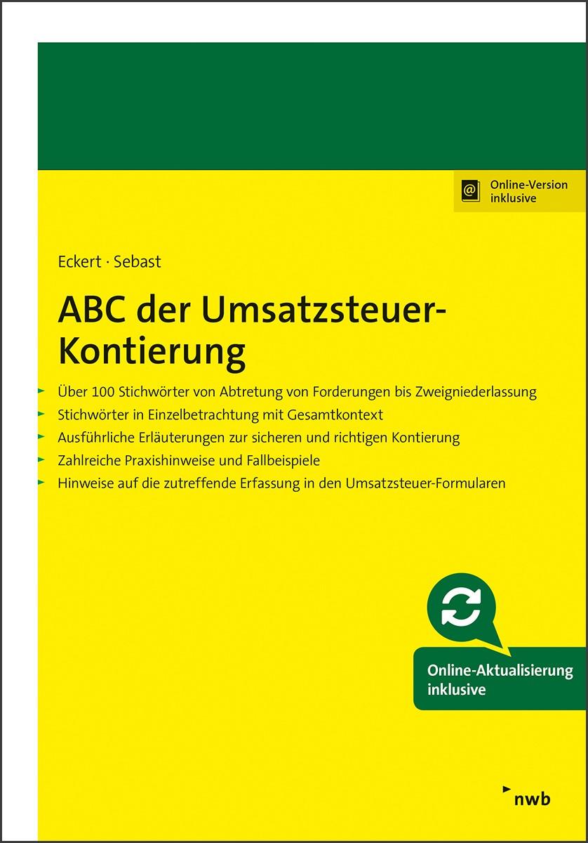Abbildung von Eckert / Sebast | ABC der Umsatzsteuer-Kontierung | 2018