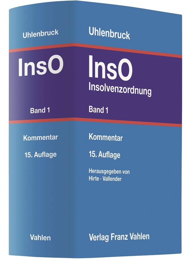 Insolvenzordnung: InsO, Band 1 | Uhlenbruck | 15., völlig neubearbeitete Auflage, 2018 | Buch (Cover)