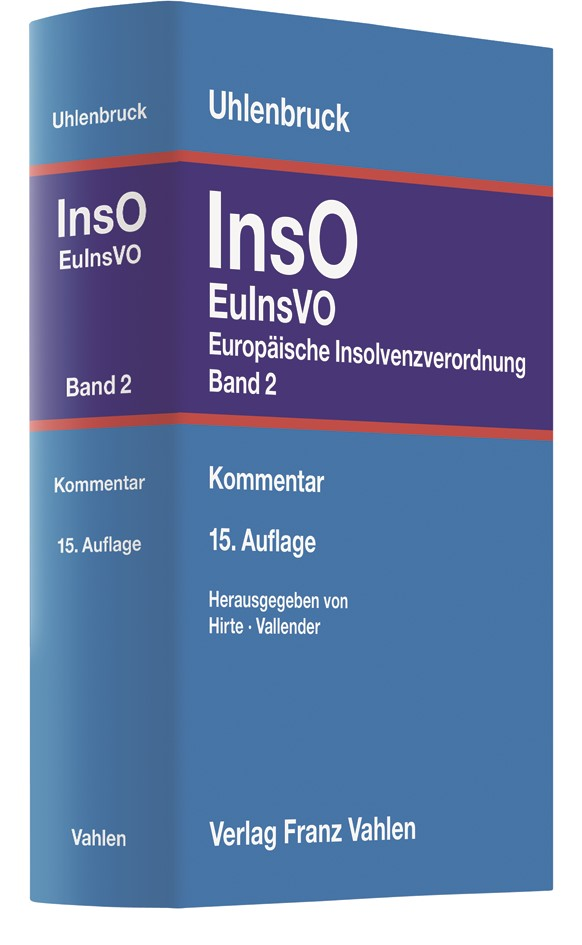 Insolvenzordnung: InsO, Band 2: EuInsVO | Uhlenbruck | 15. Auflage, 2019 | Buch (Cover)