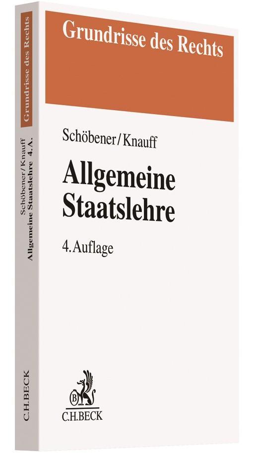 Allgemeine Staatslehre | Schöbener / Knauff | 4. Auflage, 2018 | Buch (Cover)