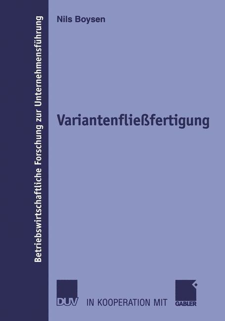 Variantenfließfertigung | Boysen, 2005 | Buch (Cover)