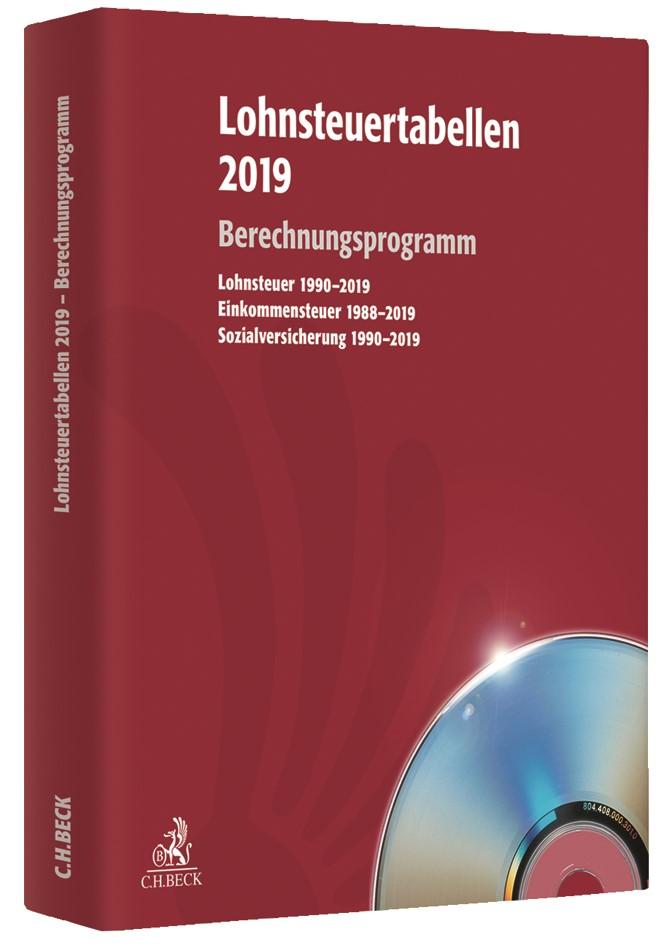 Lohnsteuertabellen 2019 • CD-ROM, 2019 (Cover)