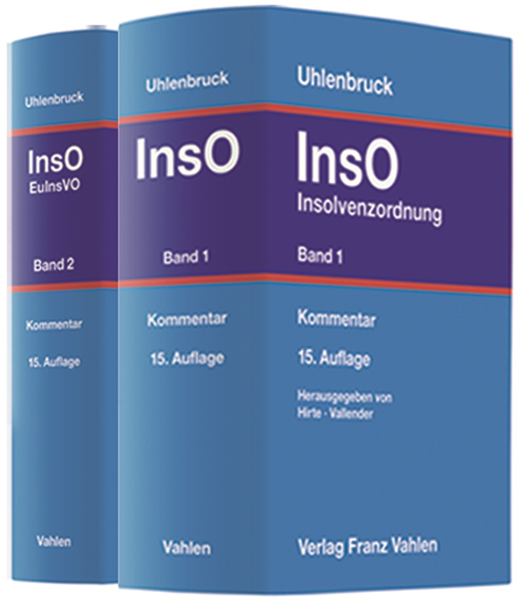 Insolvenzordnung: InsO | Uhlenbruck | 15. Auflage, 2019 | Buch (Cover)