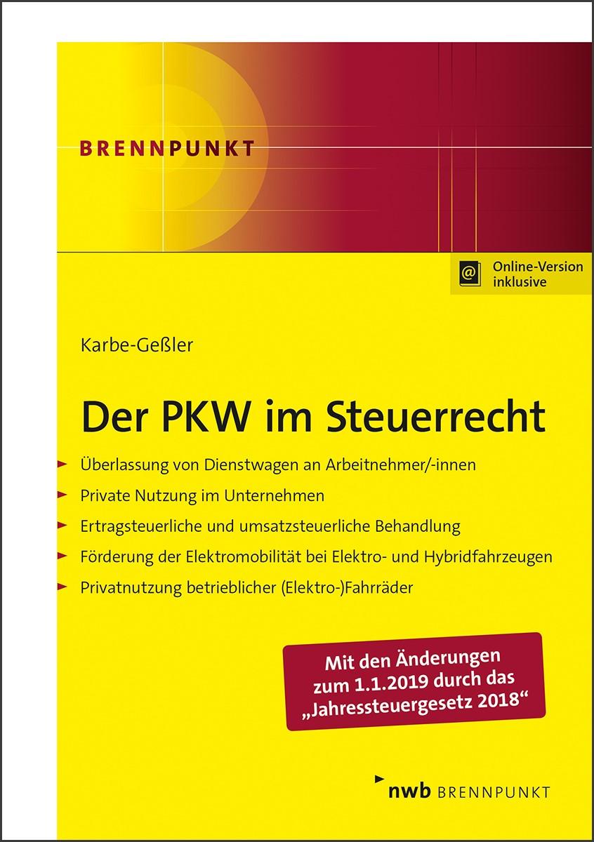 Abbildung von Karbe-Geßler | Der PKW im Steuerrecht | 2019