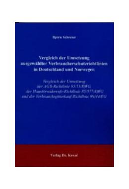 Abbildung von Schreier | Vergleich der Umsetzung ausgewählter Verbraucherschutzrichtlinien in Deutschland und Norwegen | 2004 | Vergleich der Umsetzung der AG... | 139