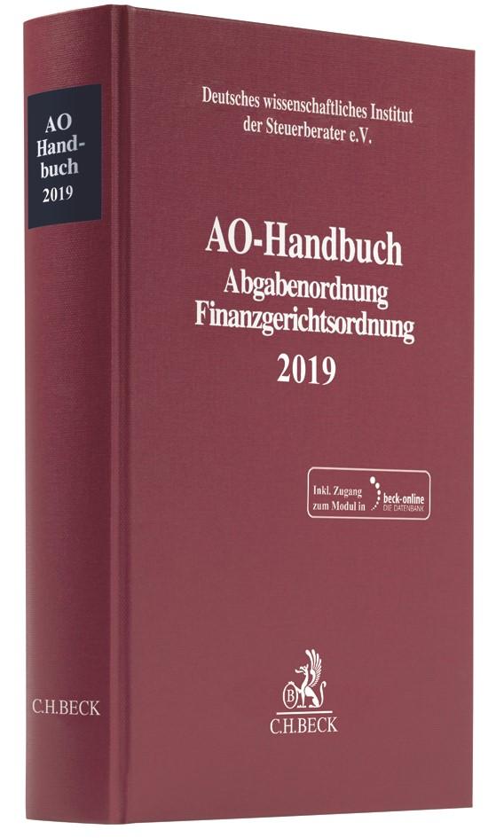 AO-Handbuch 2019, 2019 (Cover)