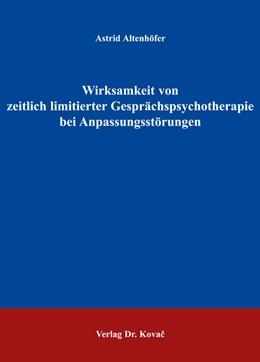Abbildung von Altenhöfer   Wirksamkeit von zeitlich limitierter Gesprächspsychotherapie bei Anpassungsstörungen   2005   13