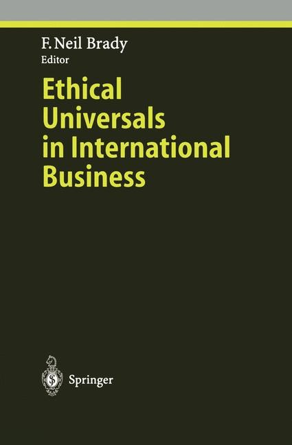 Ethical Universals in International Business | Brady, 1996 | Buch (Cover)